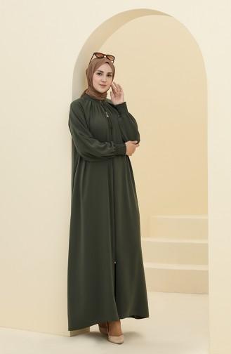 Khaki Abaya 0122A-09