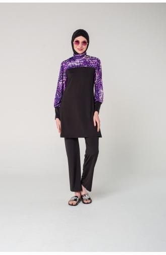 Dark Navy Blue Swimsuit Hijab 7061-01