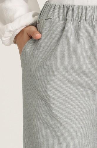 Beli Lastikli Cepli Pantolon 2001-01 Gri
