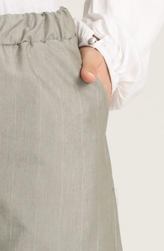Beli Lastikli Cepli Pantolon 2002-01 Çam Yeşili