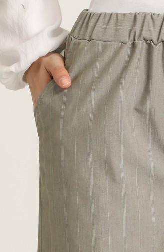 Beli Lastikli Cepli Pantolon 2002B-01 Çam Yeşili