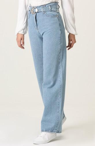 Pantalon Bleu 7516-02