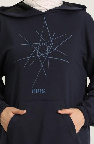 Sweatshirt Bleu Marine 3001-02