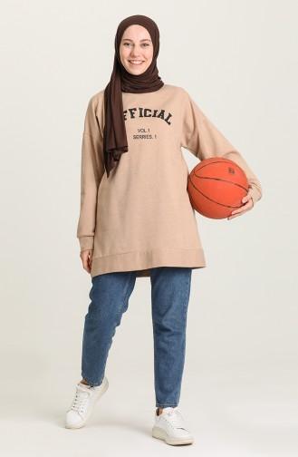 قميص رياضي عسلي 1009-02
