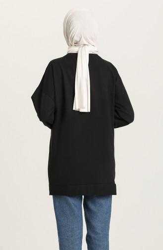 Sweatshirt Noir 1013-04