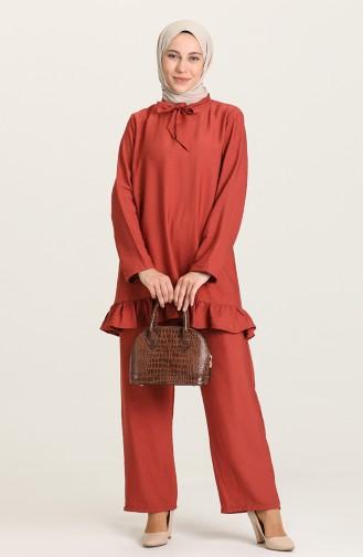 Brick Red Suit 0650-04