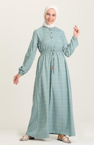 Robe Hijab Vert menthe 60331-06