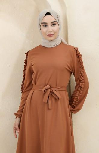 Tan Hijab Dress 1011-01
