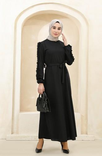 Black Hijab Dress 1011-02