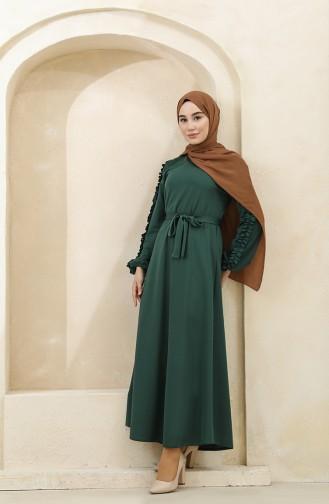 Emerald Green Hijab Dress 1011-07