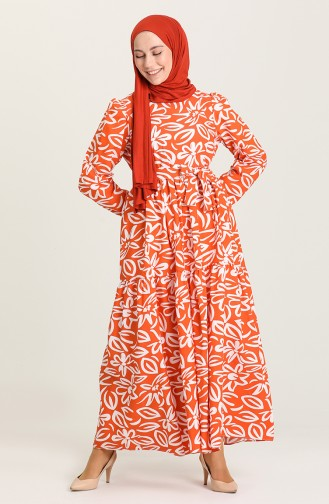 Orange İslamitische Jurk 5400A-01