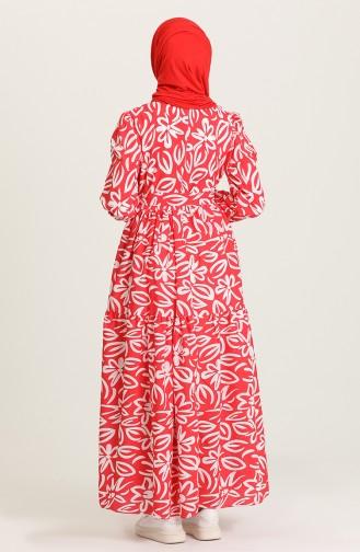 Robe Hijab Rouge 5400A-03
