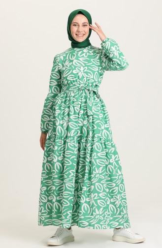 Green İslamitische Jurk 5400A-04