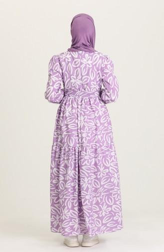 Lilac İslamitische Jurk 5400A-05