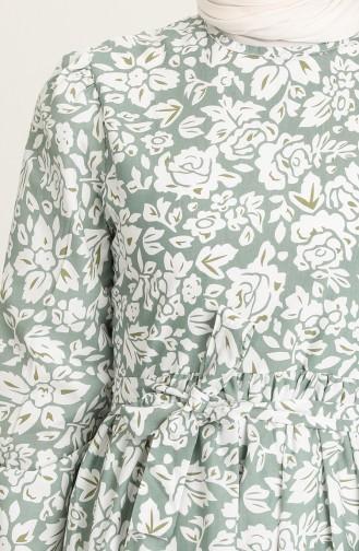 Unreife Mandelgrün Hijap Kleider 5403-04