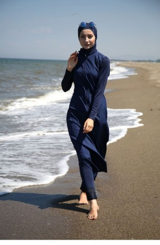 Navy Blue Swimsuit Hijab 1093