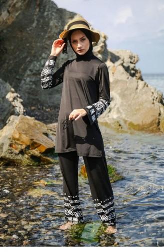 Black Modest Swimwear 1745