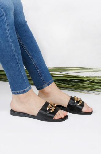 Black Summer slippers 012-01