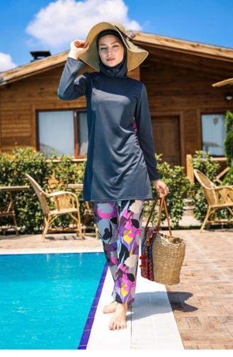 Maillot de Bain Hijab Fumé 1073
