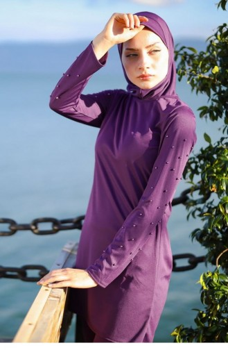 Maillot de Bain Hijab Plum 1080