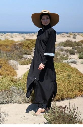 Maillot de Bain Hijab Noir 1667