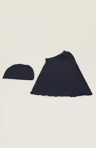 Navy Blue Swimsuit Hijab 21228-01