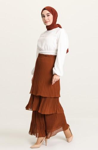 Cinnamon Color Skirt 3109-06