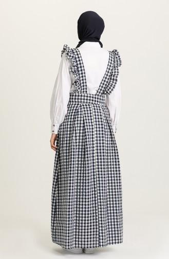 robe sans manche Bleu Marine 1638-04