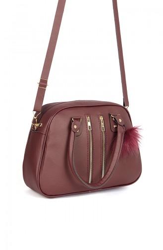 Claret Red Shoulder Bags 140650