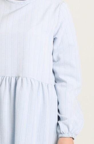 Çizgili Tunik 1655-04 Bebek Mavisi