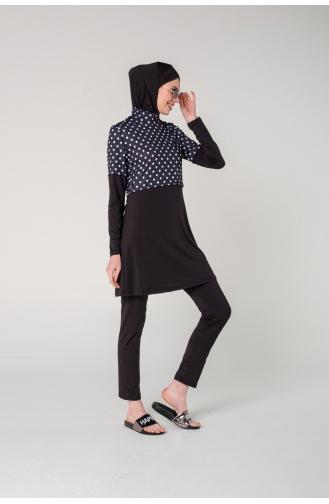 Black Modest Swimwear 7140-01
