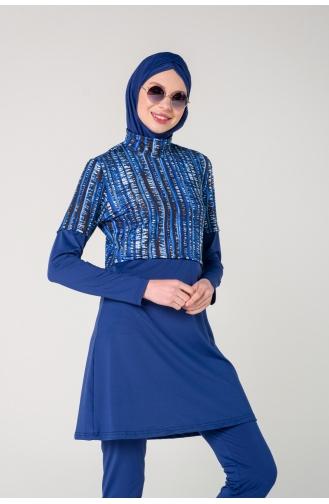 Navy Blue Swimsuit Hijab 7141-01
