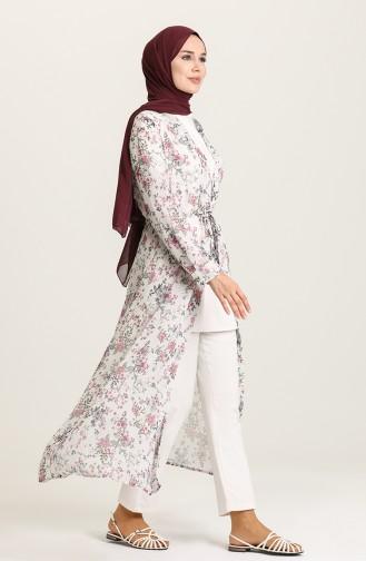 Şifon Kimono 5651-03 Ekru