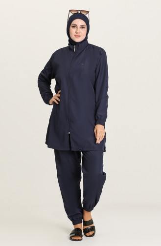 Navy Blue Swimsuit Hijab 21215-05