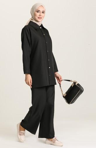 Tunik Pantolon İkili Takım 1431A-01 Siyah