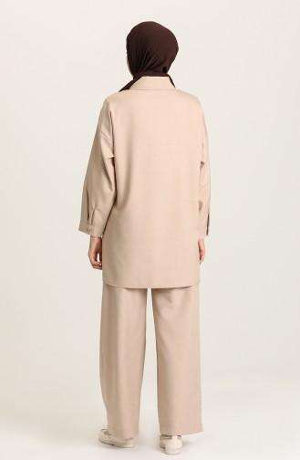 Tunik Pantolon İkili Takım 1431A-04 Taş