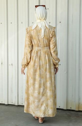 Mustard Hijab Dress 21Y8405-03