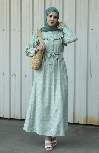 فستان أخضر 21Y8416-05
