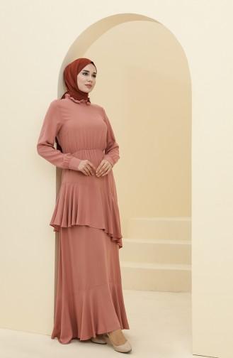 فستان زهري باهت 8330-05