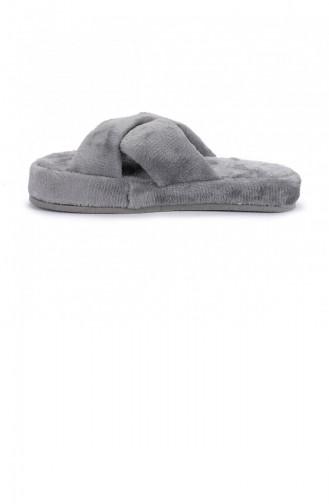 Gray Women`s House Slippers 20KTERAYK000010_GRI