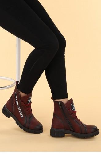 Claret Red Boots-booties 20KBOOTAYK00122_BR