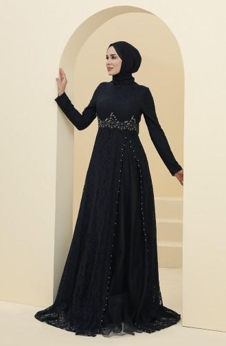 Habillé Hijab Bleu Marine 5087-04