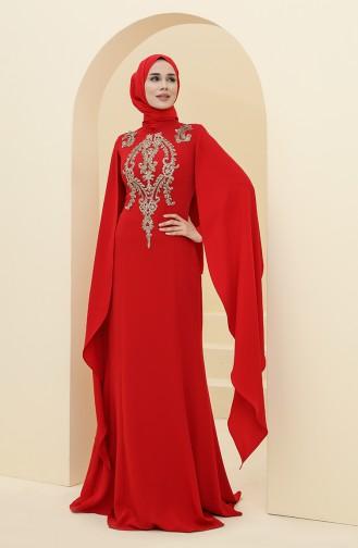 Habillé Hijab Rouge 6007-02