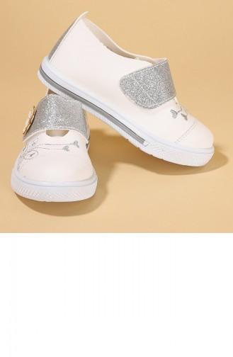 White Children`s Shoes 20KGUNKIK000003_A