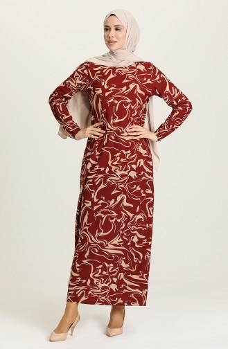 Claret Red Hijab Dress 2020-03