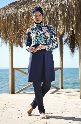 Navy Blue Swimsuit Hijab 102