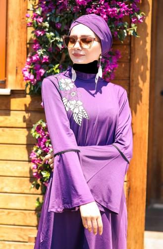 Purple Swimsuit Hijab 1117
