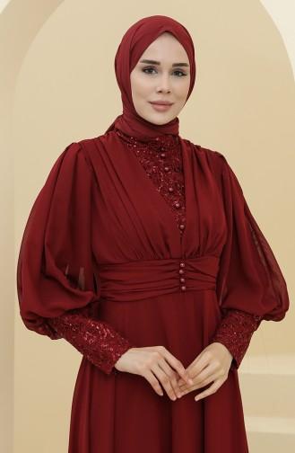 Habillé Hijab Bordeaux 52810-05