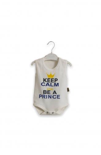 Cream Baby Bodysuit 3008-02