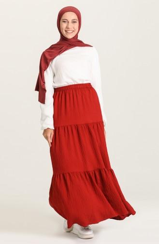 Claret Red Skirt 1020211ETK-07